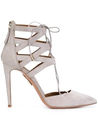 pumps lace grey shoes