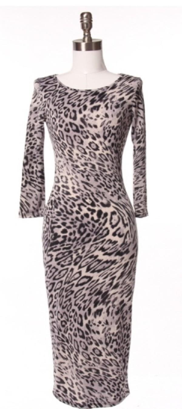 dress grey leopard print