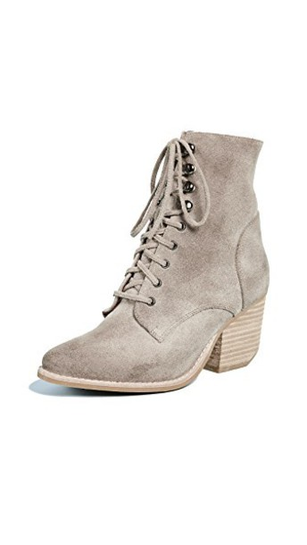 Jeffrey Campbell lace up boots lace taupe shoes