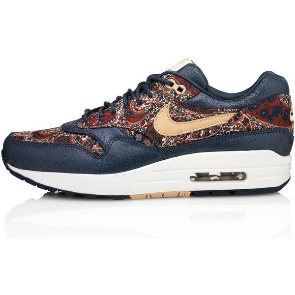 Nike x Liberty Navy Bourton Liberty Print Air Max 1 Trainers - Polyvore
