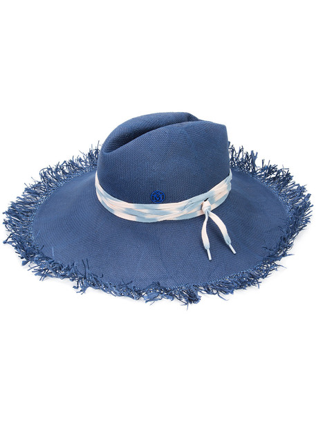 fedora blue hat