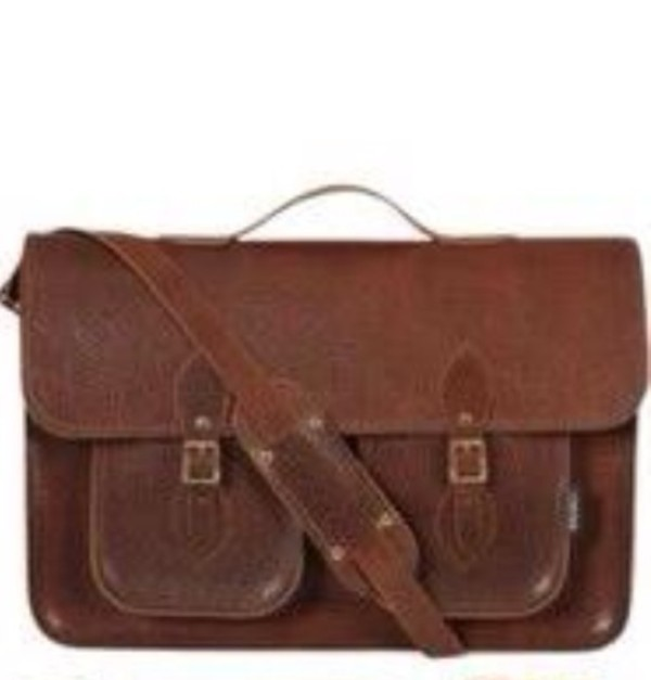 Bag: leather, satchel, messenger bag, school bag, brown leather ...