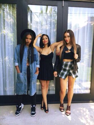 denim jacket denim dress denim zendaya vintage hipster cute dress hat
