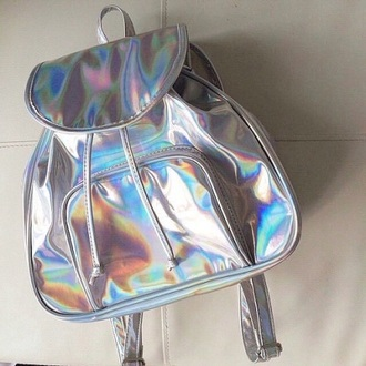 bag neon light blue perfecto packback bag outfit amazing ootd fashion secrets with oksana fashion clothes coat holographic bag