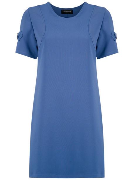 dress shift dress women spandex blue