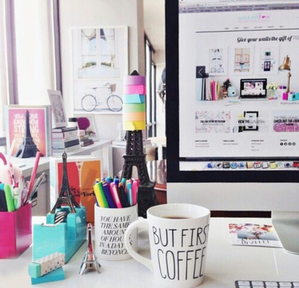 home accessory white cozy coffee desk office supplies stationary school supplies back to school macbook air mug quote on it mug paris