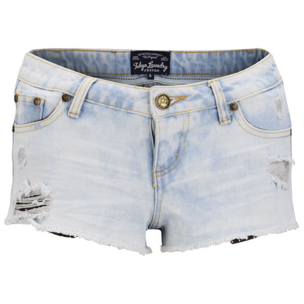 shorts tokyo laundry women's cara denim shorts - light vintage tokyo laundry