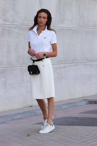 mode d'amour blogger skirt belt bag shoes jewels