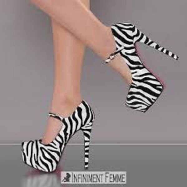shoes zebra