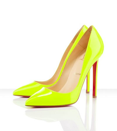 Pigalle patent leather, flou chic, yellow, green, pumps, pigalle, womens shoes ($500