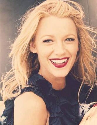 blouse blake lively blonde hair hair/makeup inspo summer beauty