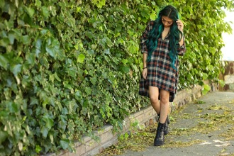 the river wolf blogger oversized shirt shirt dress platform lace up boots dress