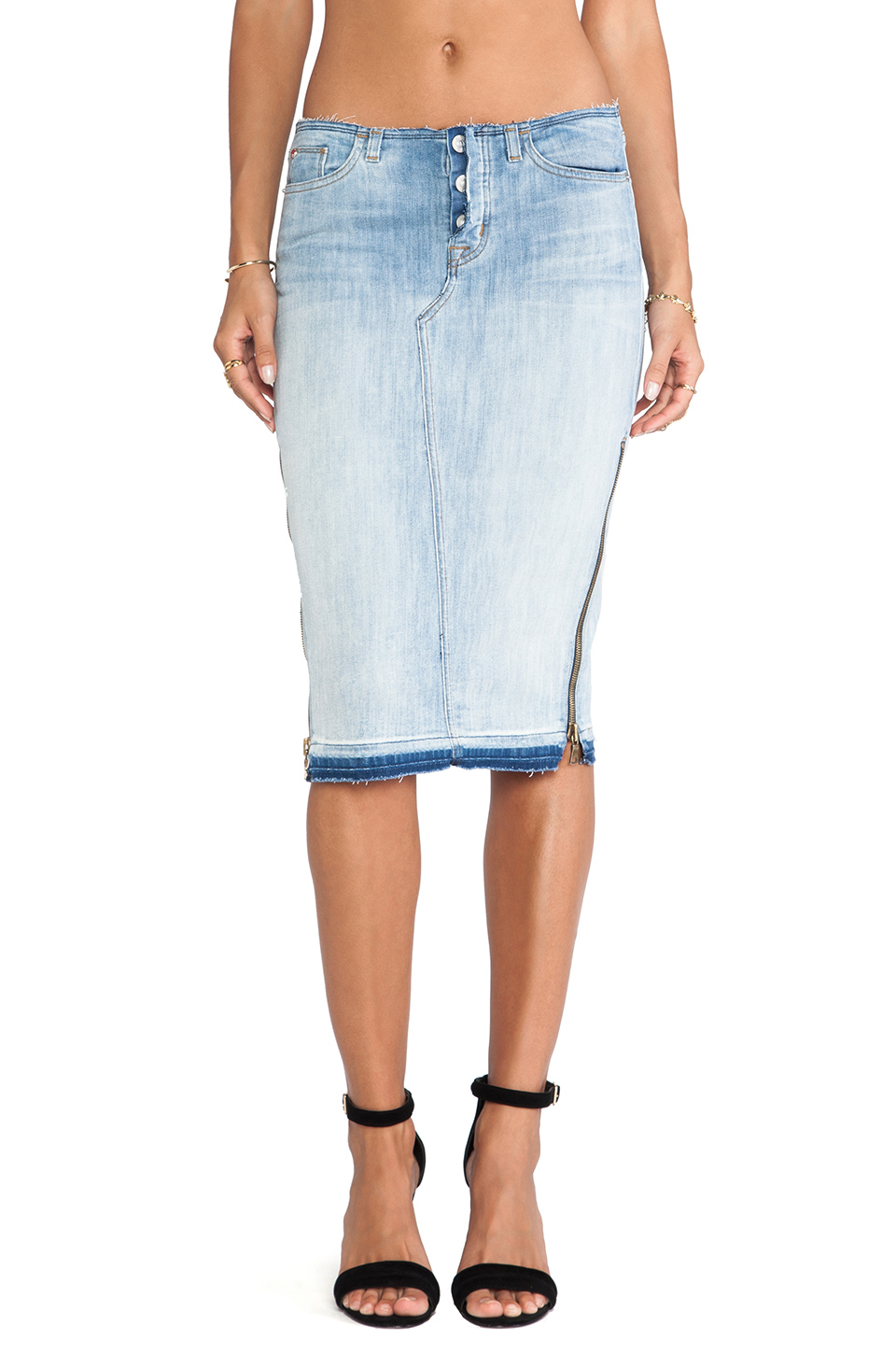 Hudson Jeans Vivienne Pencil Skirt in Superstitions from REVOLVEclothing.com