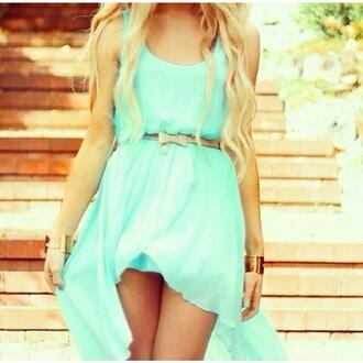 dress blue dress belt