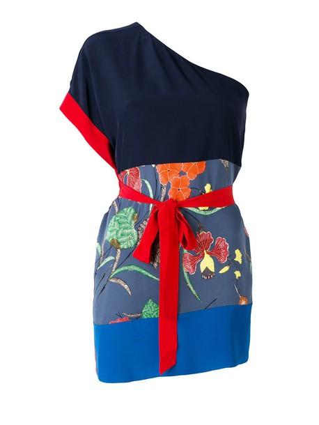 Diane Von Furstenberg blouse silk multicolor top