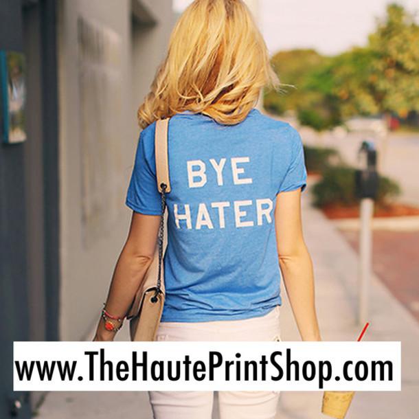 T-shirt: bye hater, print clothing online, print t-shirt ...