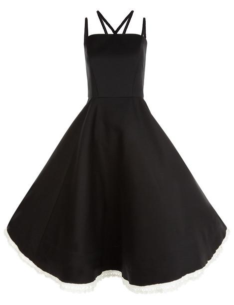 Vika Gazinskaya dress sleeveless black wool