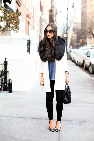 with love from kat coat t-shirt shirt jeans shoes jewels bag