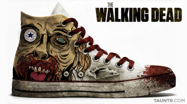 shoes the walking dead all star converse white the walking dead high top sneakers high top converse blood zombie the walking dead merch