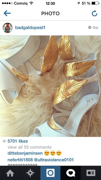 feathers shoes high heels