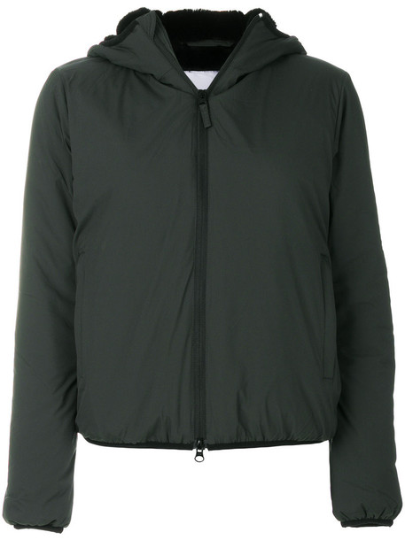 ASPESI jacket hooded jacket women green