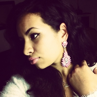 stacked jewelry jewels style earrings statement earrings floral trending statement outfit ideas