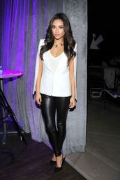 blazer,white,shay mitchell,jacket,shy mitchel,split sleeve white jacket