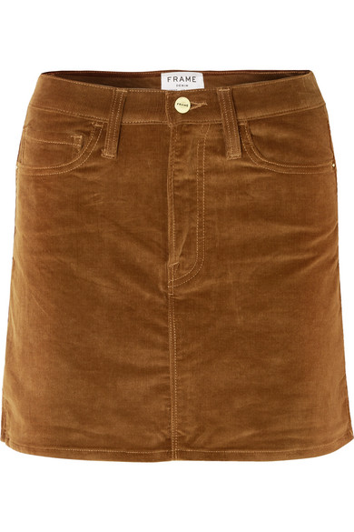 FRAME - Le Mini stretch cotton-blend corduroy mini skirt