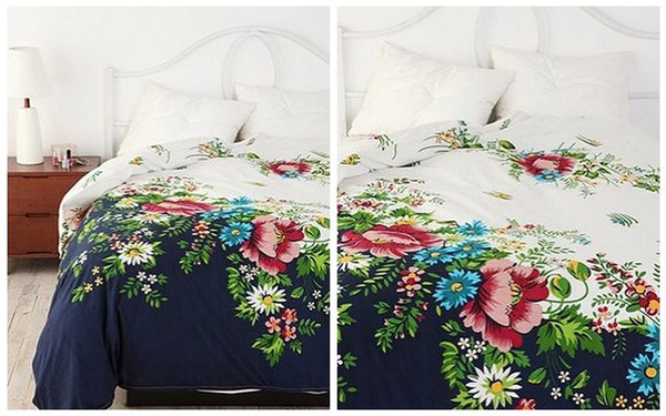 top floral bedding bedroom flowers white summer comfy blue bright boho urban outfitters girly sleepwear night hot cute pattern cotton
