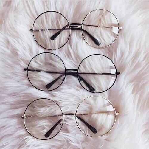 ca66971ea81 transparent circle round metallic frame korean clear potter glasses