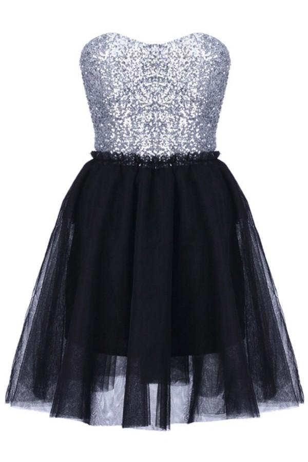 Dress Black Dress Black Dress Silver Glitter Top