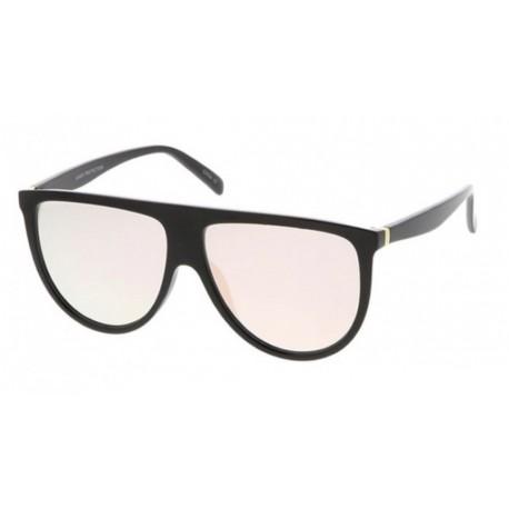 Slim Flat Top Color Lens Sunglasses - Sunglass Holic