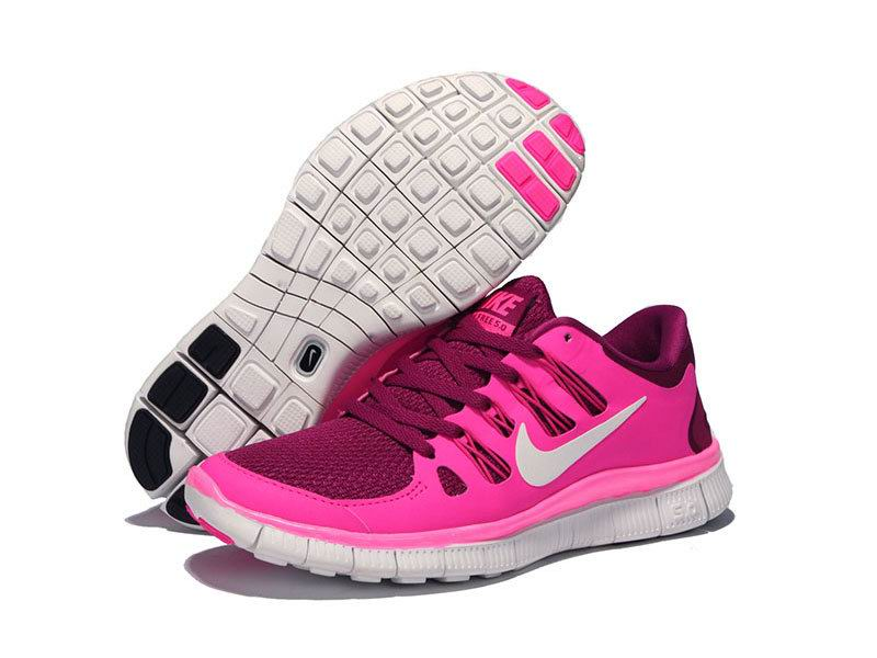 Nike Free 5.0 Womens Raspberry Red Summit White Pink Foil [641257-117]