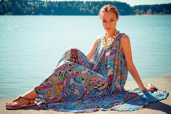 bohemian maxi dress summer dress stylemoi beach dress dress