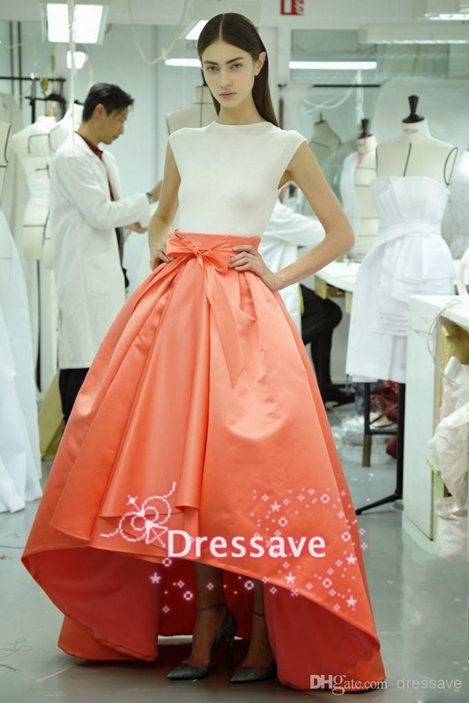 2014 Simple White Colorful Strapless High Neck A Prom Dresses | Buy Wholesale On Line Direct from China