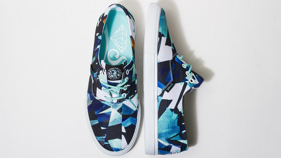 mosaic shoes diamond supply co. blue shoes