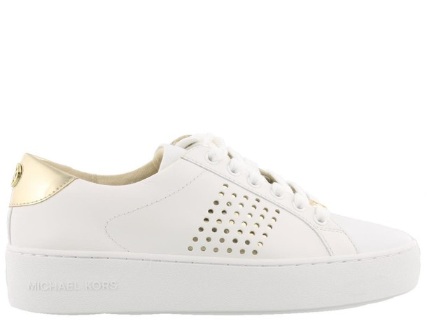 Michael Kors gold white shoes