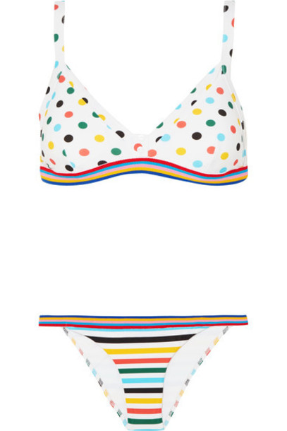 RYE bikini triangle bikini triangle white swimwear