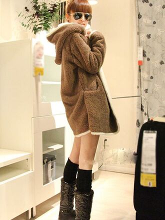 coat caot thick coat winter coat women fashion hoodie hoodie coat