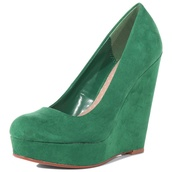 shoes,green,wedges