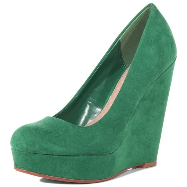 shoes green wedges wheretoget