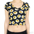 Sunflower Graphic Print Short Sleeve Crop Top Brandy Melville Style / TheFashionMRKT