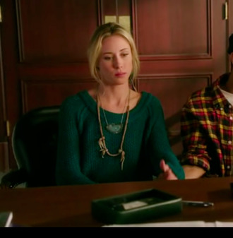 sweater jewels jumper ivy sullivan turquoise gillian zinser 90210