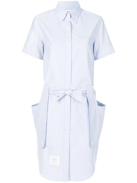 dress shirt dress women cotton blue