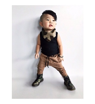 hair camouflage boots swag kids fashion fashion toddler camo print harem pants combat boots style kids with swag