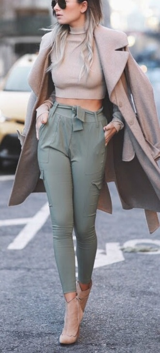 pants green belt casual i need this help