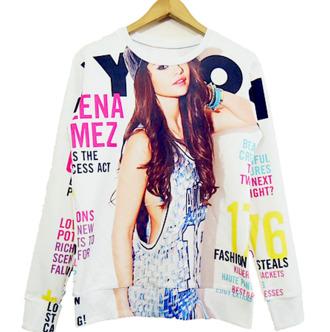 sweater selena gomez nylon magazine pullover rad pop top popstar music indie scene editorial