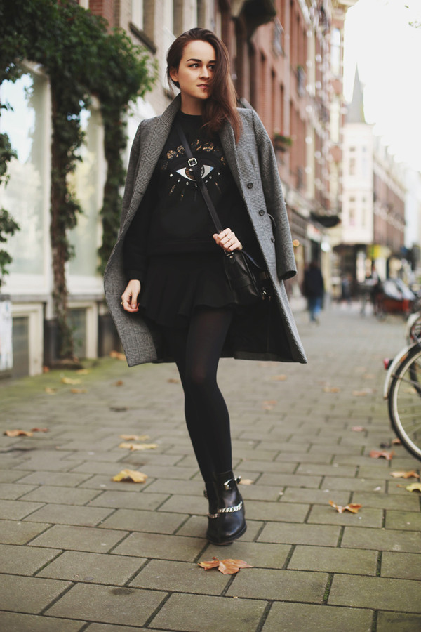 style scrapbook sweater skirt shoes coat bag