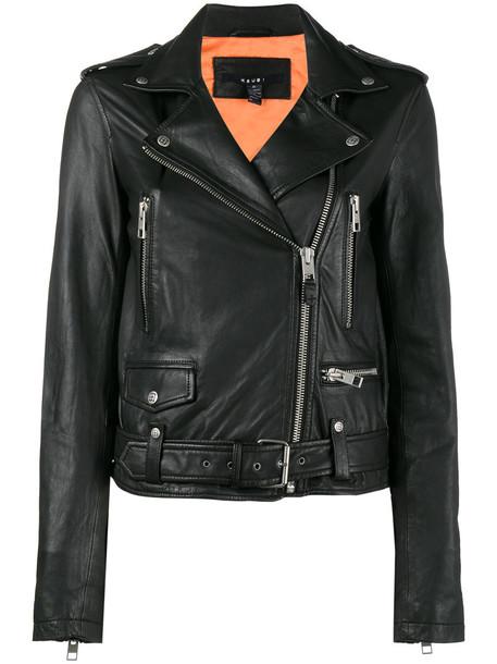 KSUBI jacket biker jacket women leather black