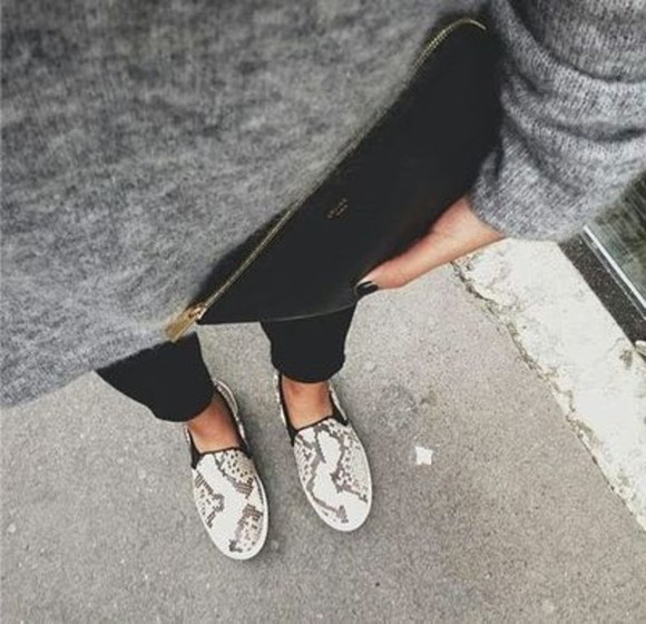 shoes snake print want want want helpmetofindit grey love lovely beautiful happy snake leather slip ons sneakers